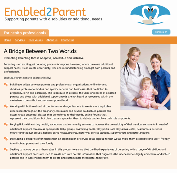 Enabled2Parent Website