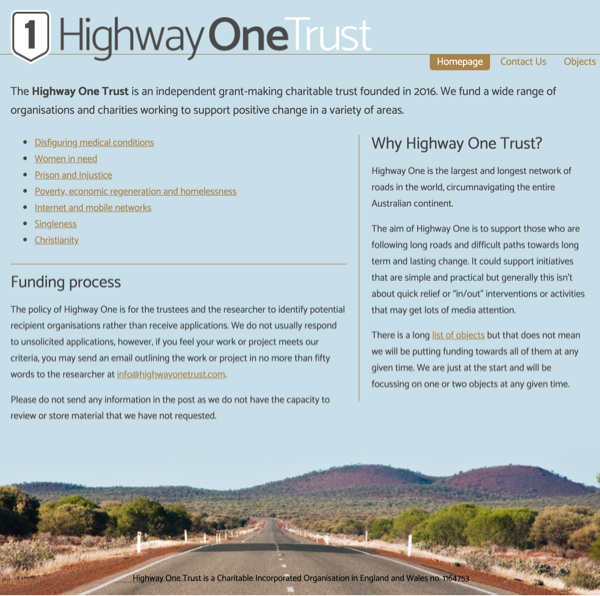 Highway One website