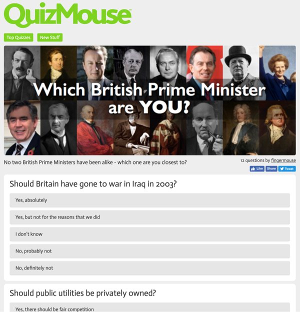 Quizmouse Website